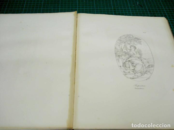 Arte: Mitologia Musas Eustache Le Sueur grabado lote 3 cuadros 1844 - Foto 3 - 201290788