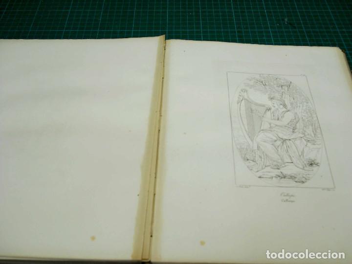 Arte: Mitologia Musas Eustache Le Sueur grabado lote 3 cuadros 1844 - Foto 4 - 201290788