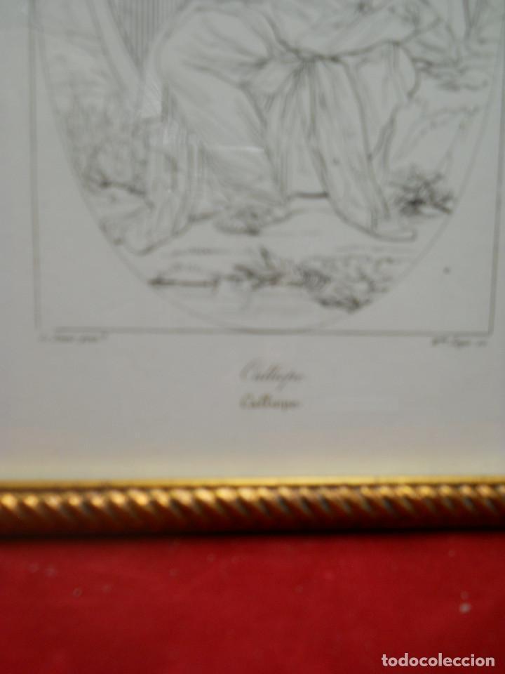 Arte: Mitologia Musas Eustache Le Sueur grabado lote 3 cuadros 1844 - Foto 13 - 201290788