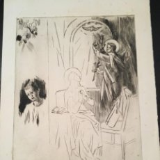 Arte: GRABADO AIGUAFUERTE DE F VIDAL GOMÀ - GRABADO COLECCIÓN ROSA VERA, 34X25 CM, BUEN ESTADO. Lote 201307743
