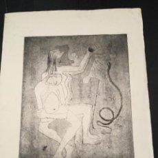 Arte: GRABADO AIGUAFUERTE DE CARMEN AROZAMENA - GRABADO COLECCIÓN ROSA VERA, 34X25 CM, BUEN ESTADO. Lote 201309622
