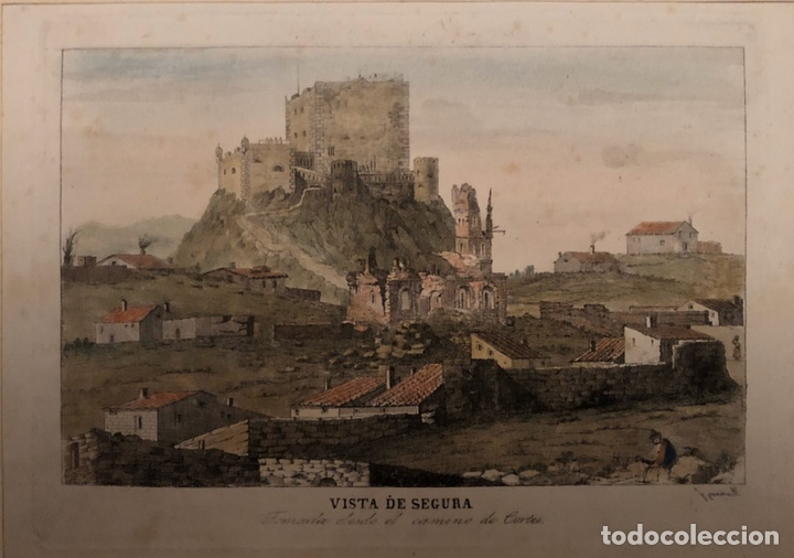 GRABADO SEGURA BAÑOS(TERUEL)INTERESANTE. (Arte - Grabados - Modernos siglo XIX)