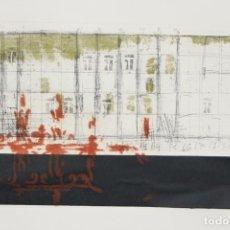 Arte: ELENA JIMÉNEZ (ALICANTE1965). GRABADO Y COLLAGE DE 75,8X56 PAPEL Y HUELLA 49,5X28. EJEM. 30/40.. Lote 201666207