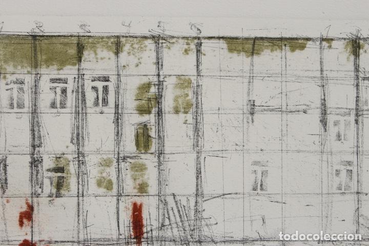 Arte: Elena Jiménez (Alicante1965). Grabado y collage de 75,8x56 papel y huella 49,5x28. Ejem. 30/40. - Foto 7 - 201666207