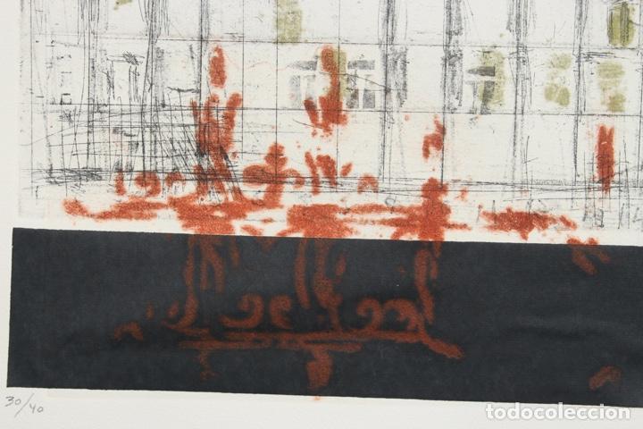 Arte: Elena Jiménez (Alicante1965). Grabado y collage de 75,8x56 papel y huella 49,5x28. Ejem. 30/40. - Foto 9 - 201666207