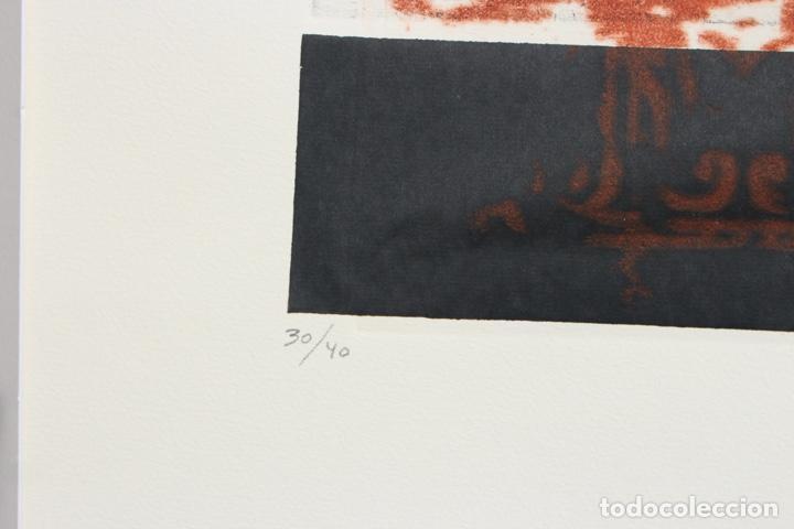 Arte: Elena Jiménez (Alicante1965). Grabado y collage de 75,8x56 papel y huella 49,5x28. Ejem. 30/40. - Foto 10 - 201666207