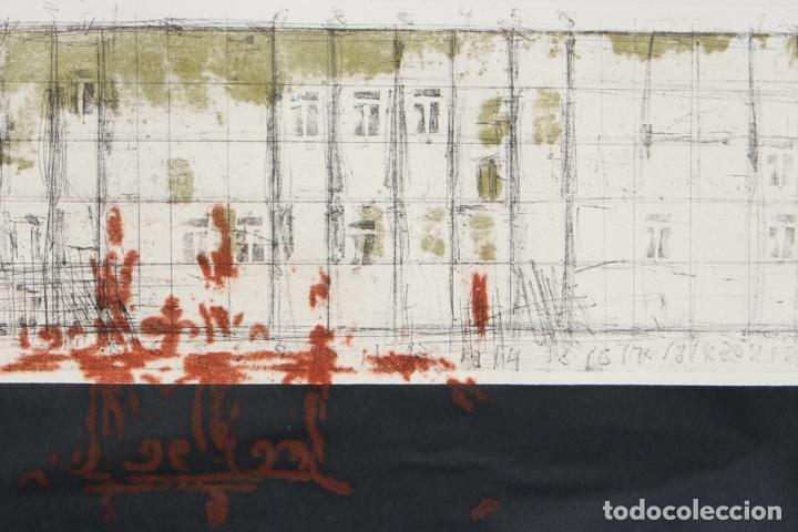 Arte: Elena Jiménez (Alicante1965). Grabado y collage de 75,8x56 papel y huella 49,5x28. Ejem. 30/40. - Foto 12 - 201666207