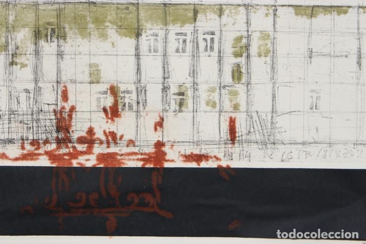 Arte: Elena Jiménez (Alicante1965). Grabado y collage de 75,8x56 papel y huella 49,5x28. Ejem. 30/40. - Foto 13 - 201666207