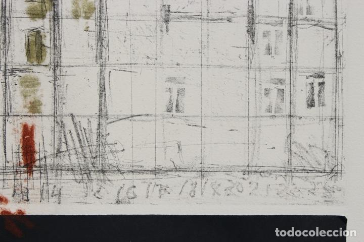 Arte: Elena Jiménez (Alicante1965). Grabado y collage de 75,8x56 papel y huella 49,5x28. Ejem. 30/40. - Foto 16 - 201666207
