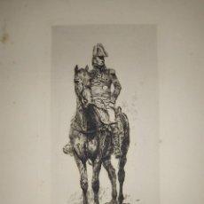 Arte: 1893. GRABADO DE MARISCAL NAPOLEÓNICO A CABALLO. MEISSONIER/ KRATKÉ.. Lote 201738431