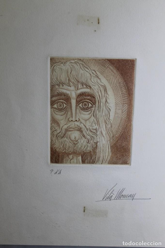 Arte: VILÁ MONCAU, JESUCRISTO, PRUEBA DE ARTISTA - Foto 2 - 201782727