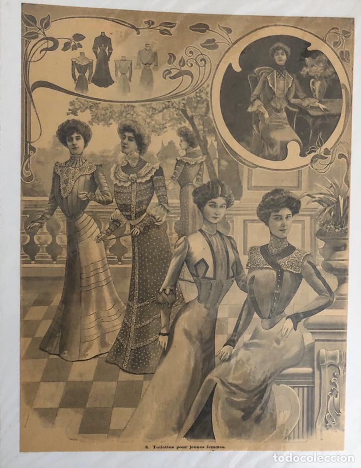 Arte: Seis grabados antiguos de costura.Francia. - Foto 3 - 202344276