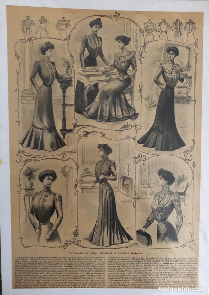 Arte: Seis grabados antiguos de costura.Francia. - Foto 5 - 202344276