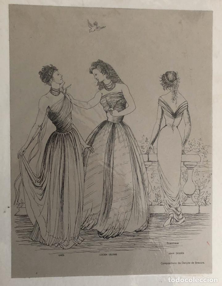 Arte: Seis grabados antiguos de costura.Francia. - Foto 6 - 202344276