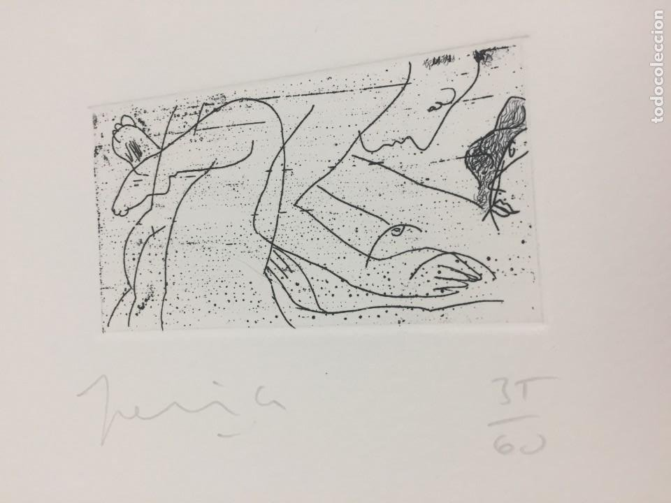 GRABADO ERÓTICO DE PERICO PASTOR. FIRMADO Y NUMERADO POR EL ARTISTA 35/60 SERIE FURSTENBERG VI (Arte - Grabados - Contemporáneos siglo XX)