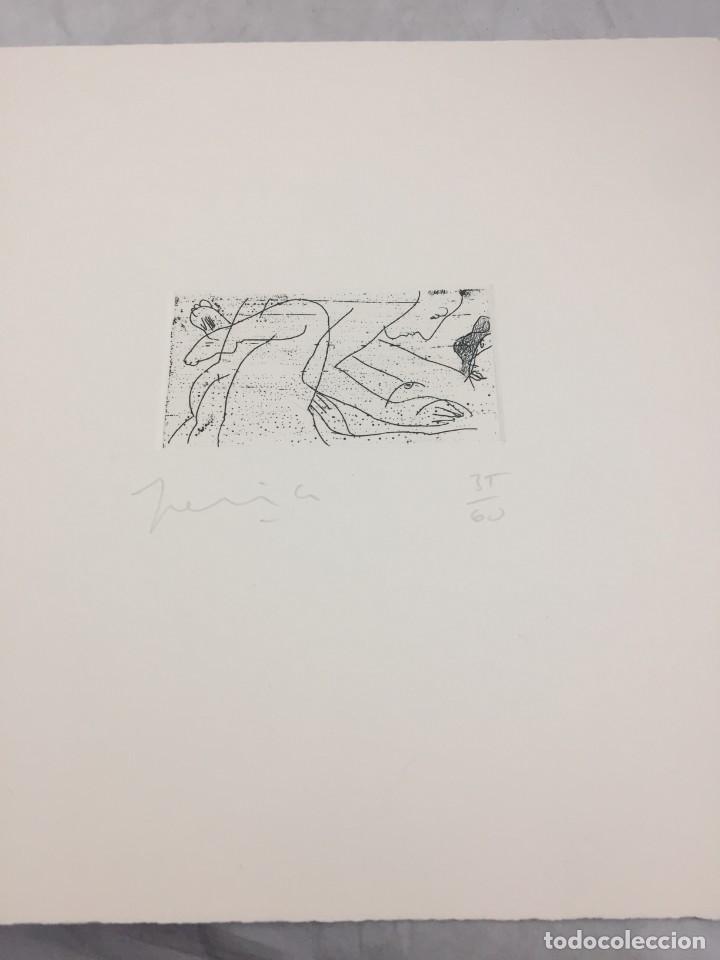 Arte: Grabado erótico de Perico Pastor. Firmado y numerado por el artista 35/60 serie Furstenberg VI - Foto 2 - 202398332