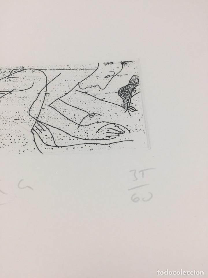 Arte: Grabado erótico de Perico Pastor. Firmado y numerado por el artista 35/60 serie Furstenberg VI - Foto 4 - 202398332