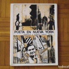 Arte: POETA EN NUEVA YORK. POEMAS DE FEDERICO GARCÍA LORCA. DIBUJOS Y GRABADOS DE RAUL CAPITANI. 1986.. Lote 202426882