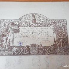 Arte: GRABADO DIPLOMA ESCUELA BELLAS ARTES SEVILLA 1941. JIMÉNEZ ARANDA. ORIGINAL. Lote 202440547