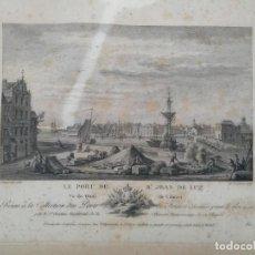 Arte: LE PORT DE ST. JEAN DE LUZ (PUERTO DE SAN JUAN DE LUZ). GRABADO 1788. Lote 202615141