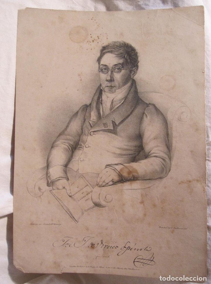 Arte: RETRATO DEL GENERAL José Joaquín Virués y López-Spínola. LITOGRAFIA. 28,5 X 20 CM - Foto 2 - 202704422
