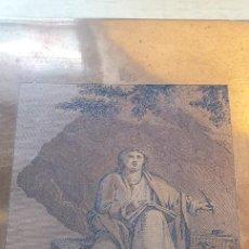 Arte: PLANCHA DE COBRE O MATRIZ GRABADO DE SAN JUAN EVANGELISTA FINALES SIGLO XVIII. Lote 202870522