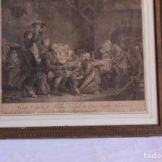 Arte: GRABADO LE GATEAU DES ROIS SIGLO XVIII. Lote 202887425
