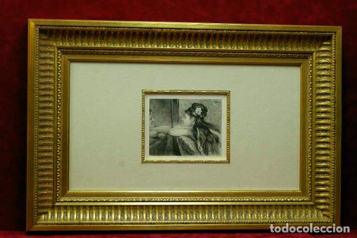 COQUETTERIE STEVENS BOETZEL 1875 GRABADO CUADRO (Arte - Grabados - Modernos siglo XIX)