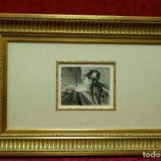 Arte: COQUETTERIE STEVENS BOETZEL 1875 GRABADO CUADRO. Lote 202942440