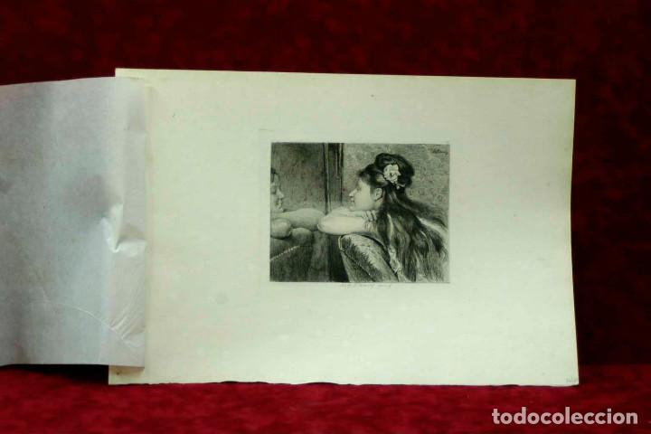 Arte: COQUETTERIE STEVENS BOETZEL 1875 grabado cuadro - Foto 4 - 202942440