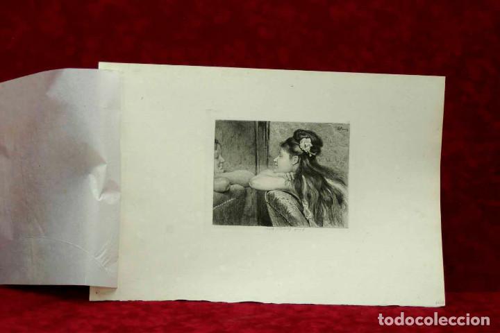 Arte: COQUETTERIE STEVENS BOETZEL 1875 grabado cuadro - Foto 7 - 202942440