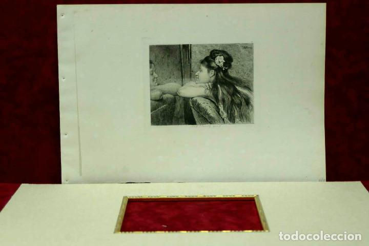 Arte: COQUETTERIE STEVENS BOETZEL 1875 grabado cuadro - Foto 16 - 202942440