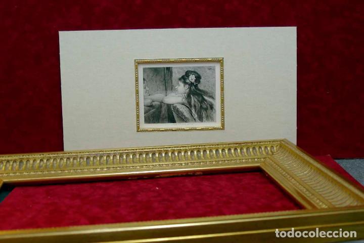 Arte: COQUETTERIE STEVENS BOETZEL 1875 grabado cuadro - Foto 19 - 202942440