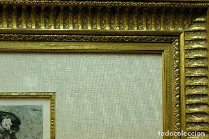 Arte: COQUETTERIE STEVENS BOETZEL 1875 grabado cuadro - Foto 25 - 202942440