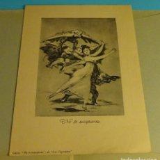 Arte: GOYA. EL ARTE DE GOYA. CARPETA CON TRES ESPLÉNDIDOS GRABADOS DEL PINTOR. READER'S DIGEST. Lote 202990031