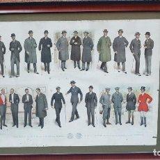 Arte: GRABADO FRANCES TRAJES OTOÑO INVIERNO 1924. Lote 203183451