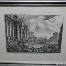 Arte: GRABADO VISTA FONTANA DE TREVI- NICOLA SALVI. Lote 203246851