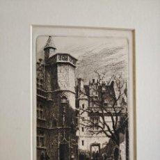 Arte: AGUAFUERTE POR CH. PINET SIGLO XIX PARIS COUR DU MUSEE DE CLUNY. Lote 203251840
