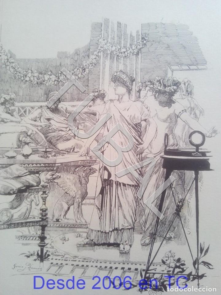 TUBAL JOSE GARCIA RAMOS SEVILLA LITOGRAFIA 100% ORIGINAL B87 (Arte - Grabados - Modernos siglo XIX)