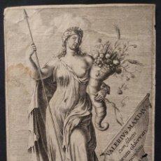 Arte: GRABADO, EMBLEMA DE ABUNDANCIA. R. A. PERSYN SCULP. VALERIUS MAXIMUS. CUM SELECTIS. HACKIUM 1651. Lote 203295997