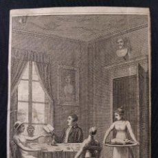 Arte: GRABADO CALCOGRÁFICO. INTERIOR IMPERIO, H. 1800-1810. PROBABLEMENTE, PROCEDENTE DE NOVELA.. Lote 203296017