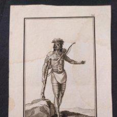 Arte: Nº 229. CARIBE DE LAS ANTILLAS. A. RODRÍGUEZ (DIBUJO). MARTÍ (GRABADO). 1799. COLECCIÓN GENERAL TRAG. Lote 203296026