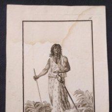 Arte: Nº 76. YSLEÑO DE JAVA. ANTONIO RODRÍGUEZ (DIBUJO Y GRABADO). 1799. COLECCIÓN GENERAL TRAGES.. Lote 203296028