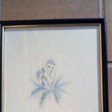 Arte: ESCUELA FRANCESA. MARIE ST. MAURICE. GRABADO A TRES TINTAS SOBRE PAPEL. FIRMADO Y NUMERADO 326/500.. Lote 203331045