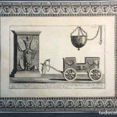 Arte: ROCCHEGGIANI - GRABADO ORIGINAL. ELEMENTOS ROMANOS. (FIN SIGLO XVIII) MEDIDAS: 43,5 X 33,5 CM.,. Lote 203392787