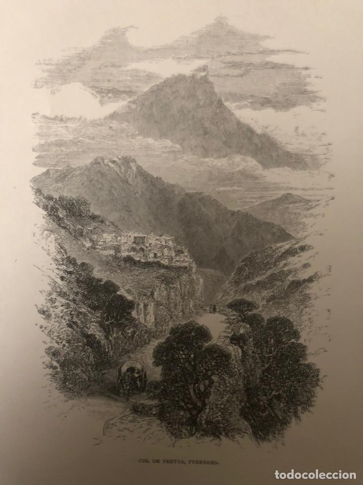 Arte: Grabado de Col de Pertus,Pirineos. - Foto 2 - 203805618