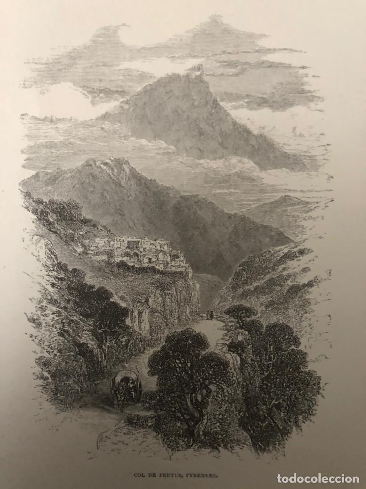 GRABADO DE COL DE PERTUS,PIRINEOS. (Arte - Grabados - Modernos siglo XIX)