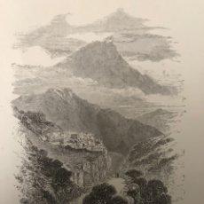 Arte: GRABADO DE COL DE PERTUS,PIRINEOS.. Lote 203805618