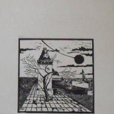 Arte: GRABABO LA ESFINGE. FIRMADO A MANO. 1983. H.C. BUEN ESTADO. 44X33 CM. SIN IDENTIFICAR FIRMA.. Lote 203921773