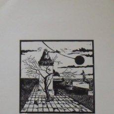 Arte: GRABABO LA ESFINGE. FIRMADO A MANO. 1983. H.C. BUEN ESTADO. 44X33 CM. SIN IDENTIFICAR FIRMA.. Lote 203921915